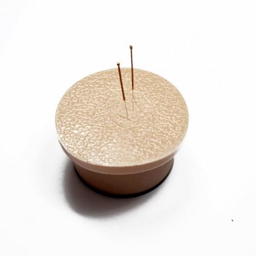 Cojín de silicona para práctica de acupuntura