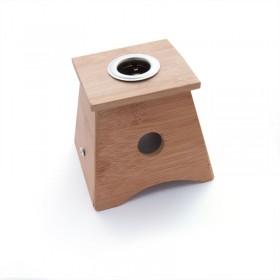 Caja de Moxa de bambú con 1 agujero - para puro