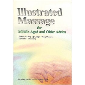 Illustrated massage for middle-aged and...