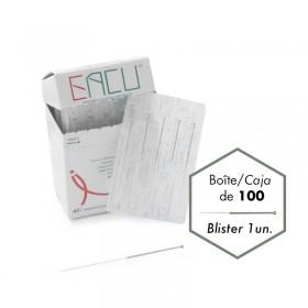 0,25*40mm EACU Mànec banyat en plata amb silicona